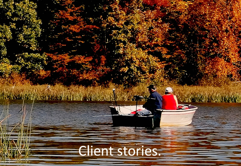 Client stories.