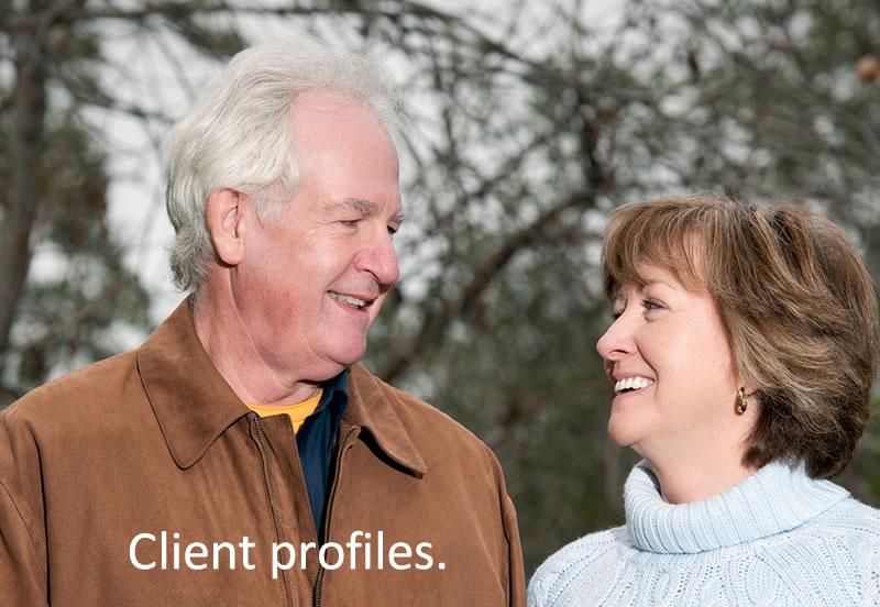 Client profiles.