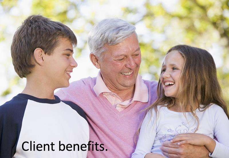 Client benefits.