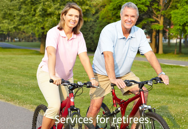 Services for retirees.